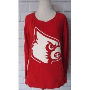 VS PINK Louisville Cardinals Crew Neck Sweatshirt